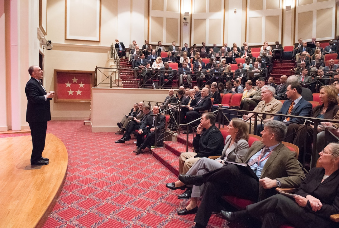 On February 22, 2018, Dr. Eliot Cohen addressed the students of the National War College with a lecture in Roosevelt Hall at Fort McNair in Washington, DC.