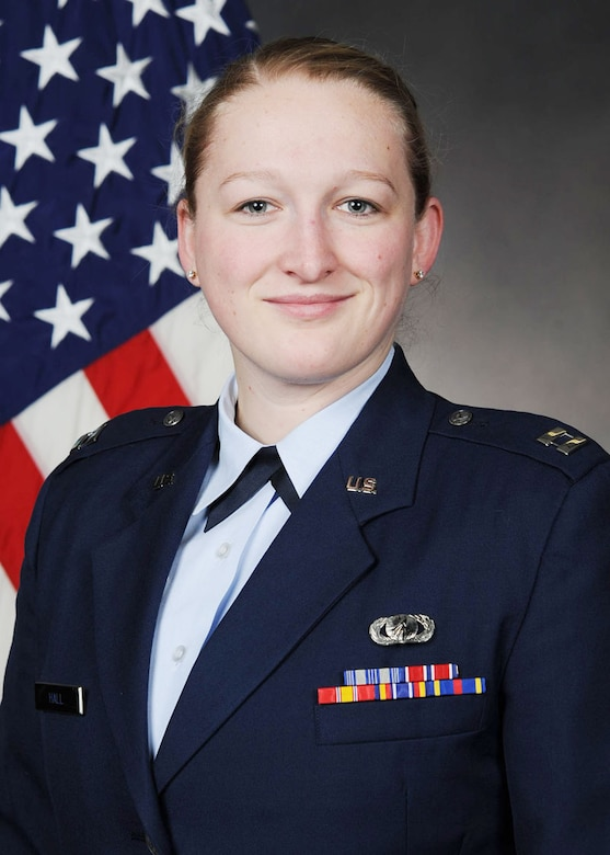 Capt. Abby Hall was named the Air Force Female Athlete of the Year.