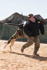 The 332nd Expeditionary Security Forces Squadron hosted a military working dog demonstration May 11, 2018, as part of Police Week at an undisclosed location in Southwest Asia.