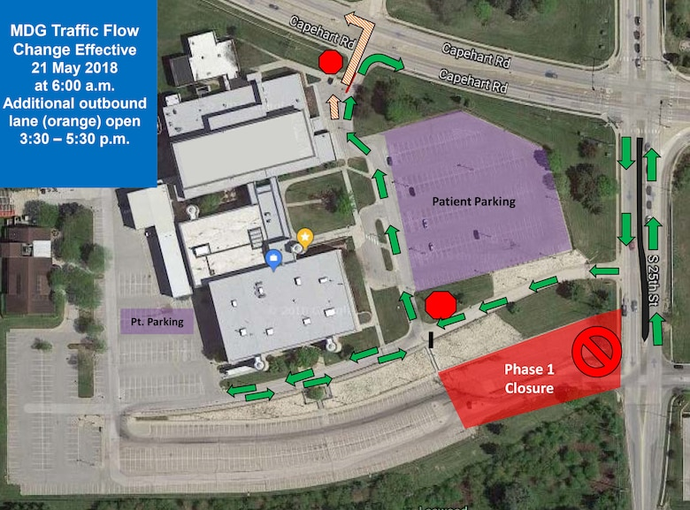 Ehrling Bergquist Clinic parking lot repairs scheduled to begin May 21