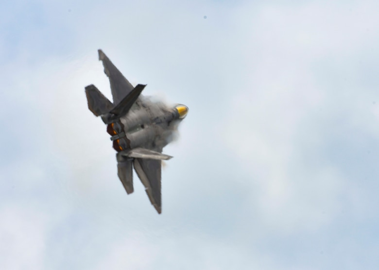 Air Combat Command's F-22 Raptor Demonstration Team performed for spectators during Tampa Bay AirFest 2018 at MacDill Air Force Base, Fla., May 12-13, 2018.
