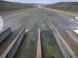 Fort Peck Spillway at Fort Peck Dam Montana