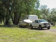 Downstream campground camper areas