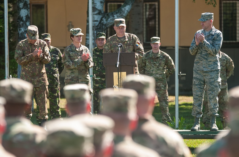 Romanian, U.S. Army Reserve engineers celebrate 4 years of combined construction efforts