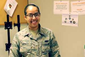 Airman 1st Class Jasmine Griffith will become and Air Force Academy cadet in July.
