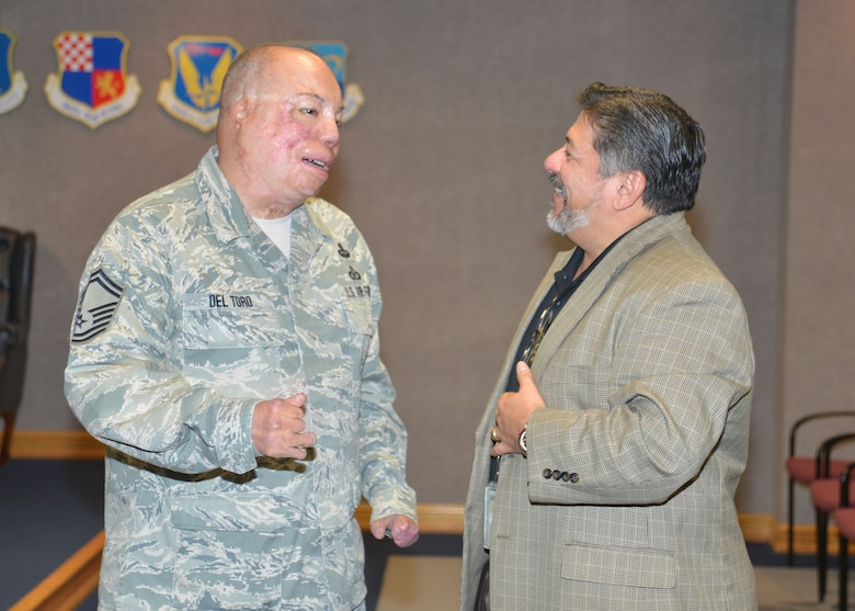 The 25th Air Force Guest Speaker Program welcomed Senior Master Sgt. Israel Del Toro on May 15, 2018. Del Toro spoke to Airmen about his life experiences, career and what motivated him to survive after being injured in combat.