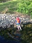 Young lake visitor enjoys Nolin River Lake