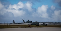 An RQ-4 Global Hawk on Andersen Air Force Base, Guam. The RQ-4 is a high-altitude, long range, unmanned reconnaissance aircraft.  (U.S. Air Force photo by Staff Sgt. Alexander W. Riedel)