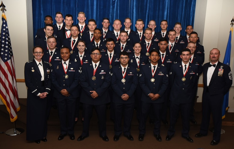 The 90th Missile Wing Airman Leadership School held a graduation ceremony at the Trail's End Event Center here to honor the Airmen who completed the course, May 16, 2018. The following Airmen graduated the course: