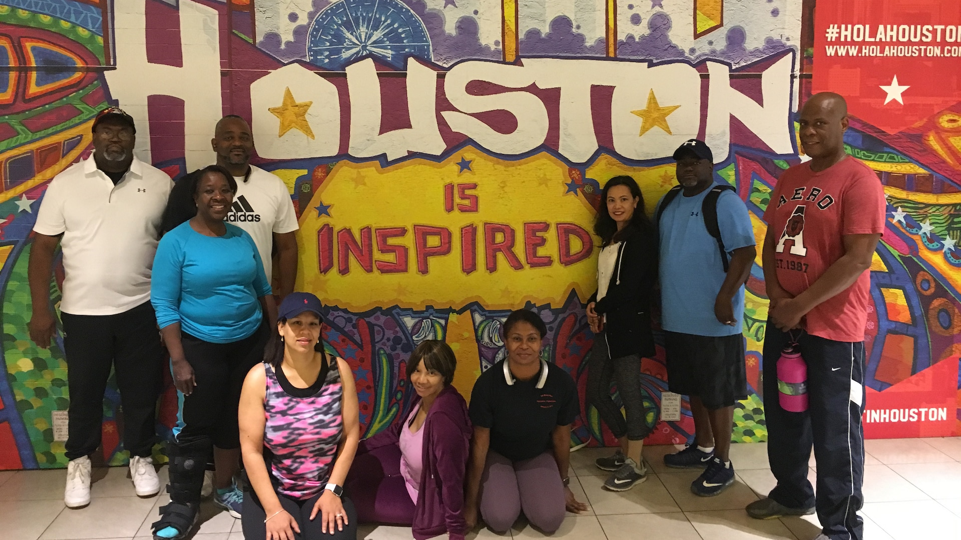 Members of the Defense Contract Management Agency International Region conduct the 2018 Walk to Wellness 5K in The Galleria mall Houston, Texas on May 2. This was the first walk the group conducted in an indoor setting, which allowed all employees to safely participate. (DCMA photo by Johanna Akinfenwa)