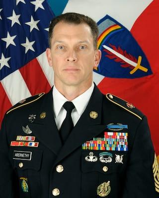 Command Sgt. Maj. Robert Abernethy