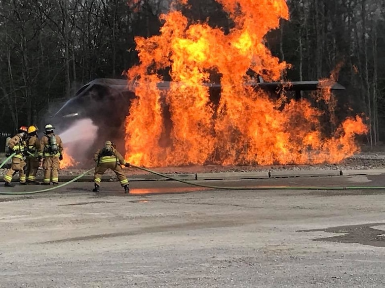 Michigan and Ohio ANG join together for live fire training and rescue exercises at the Alpena CRTC