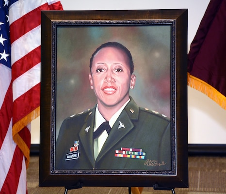 Painting of Lt. Col. Karen Wagner, who lost her life while serving at the Pentagon on 9/11.