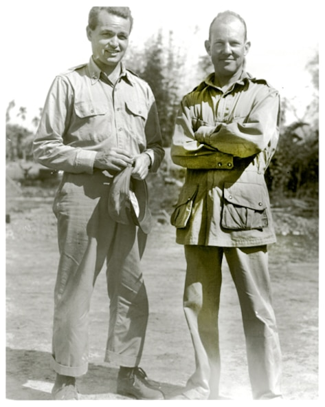 Col Phil Cochran and Col Johnny Alison, architects of World War II air commandos that operated from India against the Japanese empire.