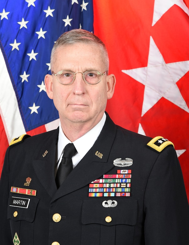 Official photo of Lieutenant General Theodore D. Martin, Deputy Commanding General/Chief of Staff U.S. Army Training and Doctrine Command Fort Eustis, Virginia.