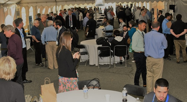 IMAGE: DAHLGREN, Va. (May 2, 2018) - Naval Research and Development Establishment (NR&DE) scientists and engineers present more than 150 technological projects at the two-day 2018 Naval Innovative Science and Engineering (NISE) Technical Exchange Meeting held at Naval Surface Warfare Center Dahlgren Division. The audience - a who's who in Department of Defense technical leaders, scientists and engineers - arrived at the Deputy Assistant Secretary of Defense for Research, Development, Test and Evaluation sponsored event to see and learn about the NISE projects and their alignment to naval systems and naval needs. (U.S. Navy photo/Released)