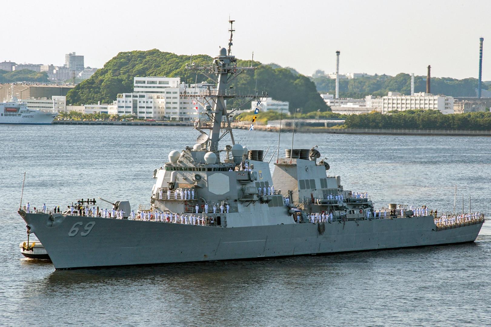 USS Milius Joins Forward Deployed Naval Forces in Yokosuka, Japan