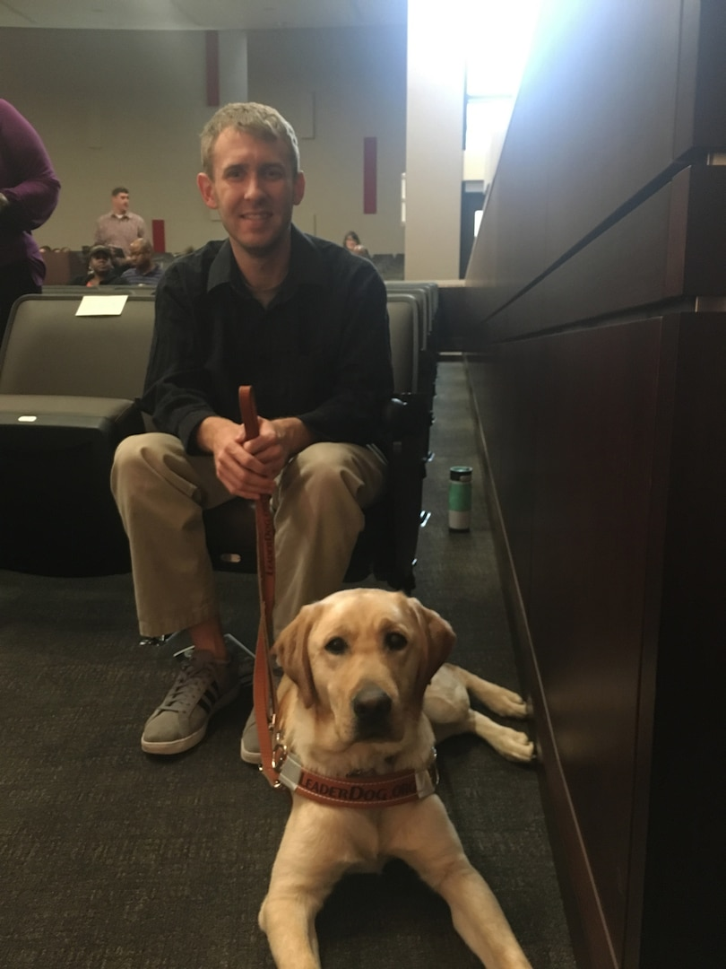 Man's best friend: Distribution employee's daily life enhanced by guide dog