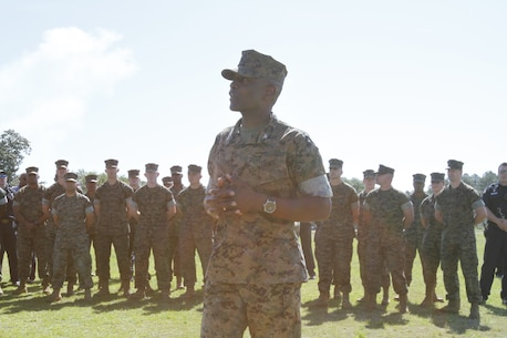 Colonel James C. Carroll III, reflects on his leadership during his assignment at Marine Corps Logistics Base Albany