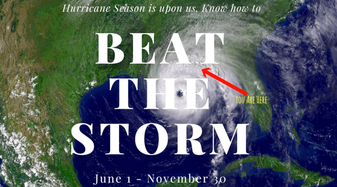 As Hurricane season quickly approaches, our Nomads must prepare to take the necessary safety precautions in the event of Mother Nature's wrath. (U.S. Air Force Graphic by Airman 1st Class Emily Smallwood)