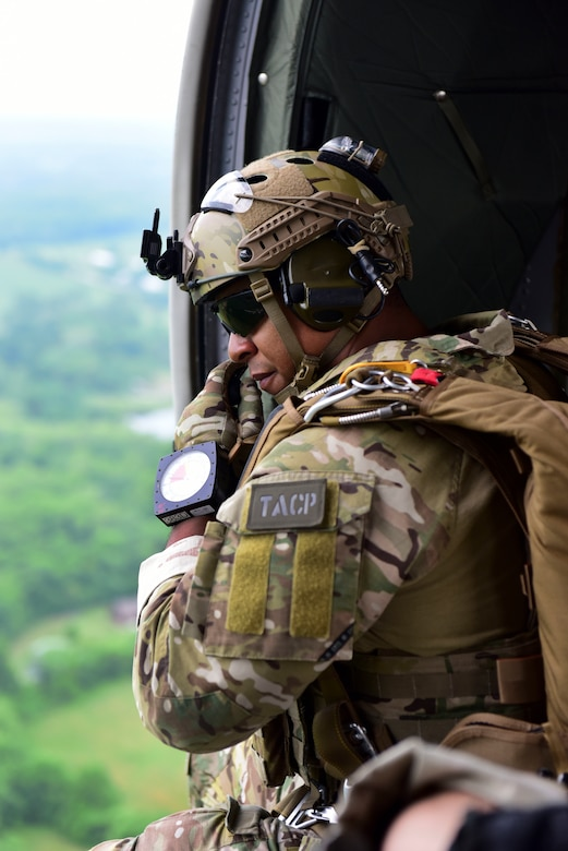 TACP; tactical air control party; JTAC; joint terminal attack controller; Whiteman; free fall; UH-60; 18th ASOG