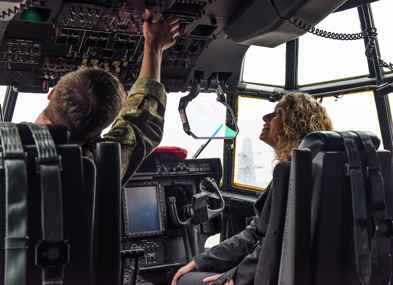 Area guidance counselors tour the 193rd Special Operations Wing.