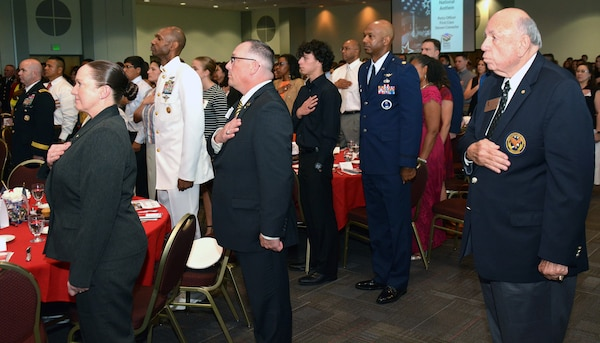 "Future service members, their families, educators, business leaders and military members gathered in the Rosenberg Sky Room at the University of the Incarnate Word to participate in ""A Night in Your Honor"" sponsored by Our Community Salutes-San Antonio May 16."