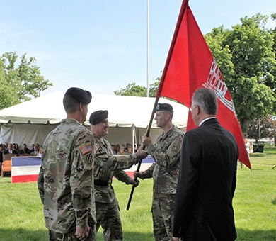 On May, 24, 2018, Col. Steve Sattinger became the 49th commander of the Rock Island District. He assumed command from Col. Craig Baumgartner. As commander, Sattinger oversees the District's water resource development programs which span five states and 78,000 square miles.