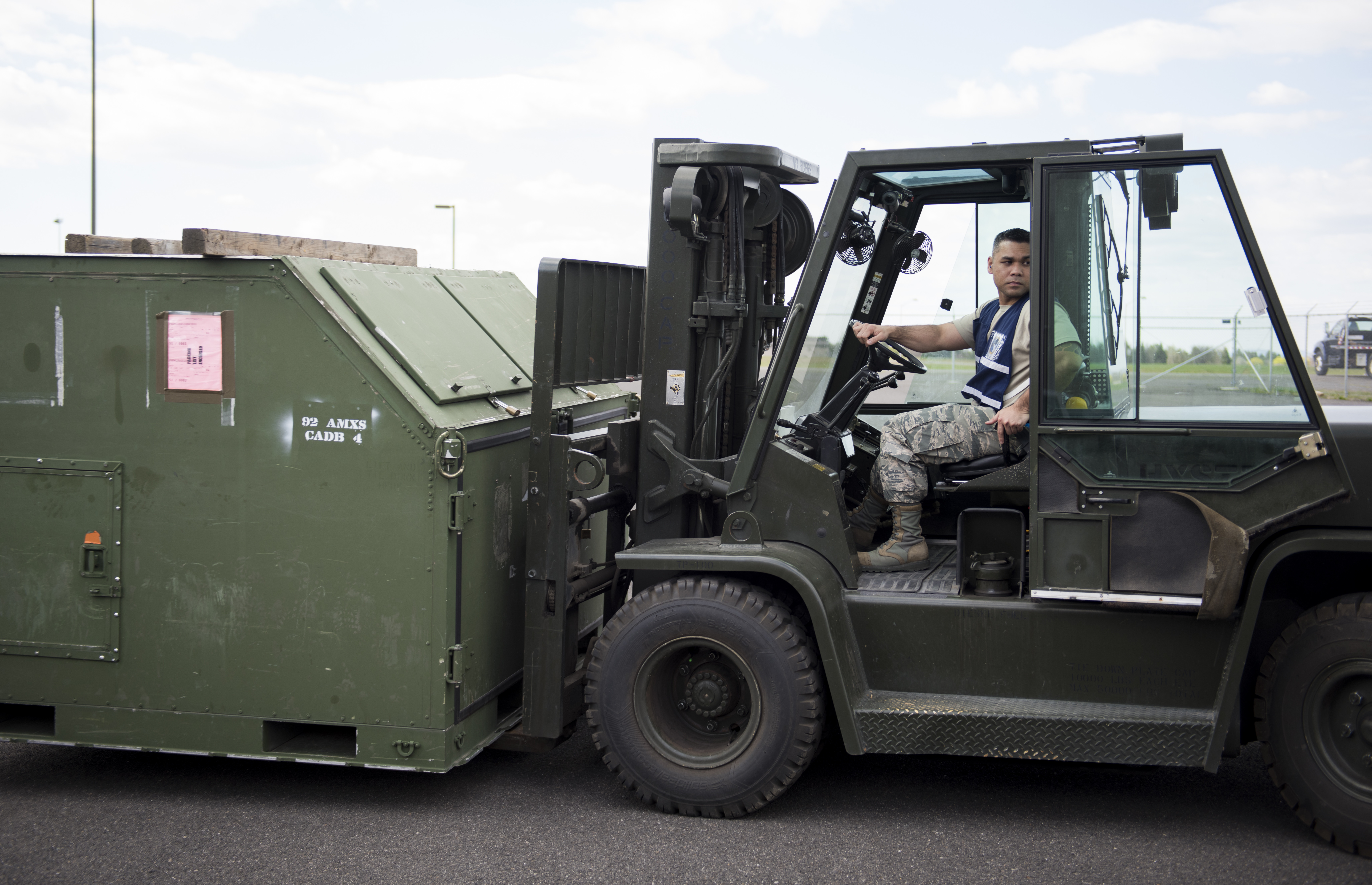 Tech Sgt Jaymhar Caoile 92nd Logistics Readiness Squadron Assistant Resource Advisor Operates