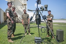MCAS FUTENMA, OKINAWA, Japan – Marines learn about the weather local substation May 15 aboard Marine Corps Air Station Futenma, Okinawa, Japan.