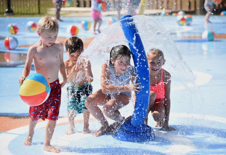 West Falcon Splash Pad Opens Keesler Air Force Base Article