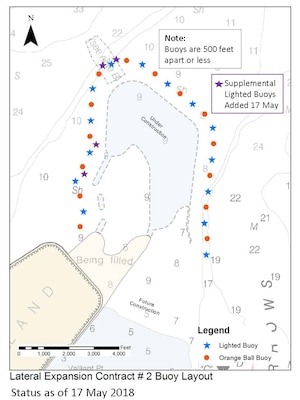 PSA – Army Corps reminds boaters to be aware of submerged rocks marked by buoys near Poplar Island construction work ahead of holiday weekend