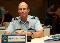 New Zealand Air Commodore Andrew Clark, air component commander, New Zealand Defence Force, participates in the Pacific Amphibious Leaders Symposium (PALS) in Honolulu, Hawaii, May 21-24, 2018.