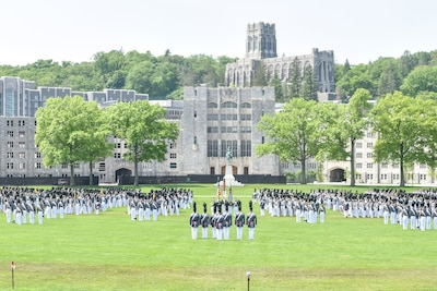 The 2018 graduation parade takes place at the U.S. Military Academy at West Point, N.Y.