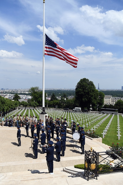 U.S. Air Forces in Europe Band performs at Suresnes American Cemetery