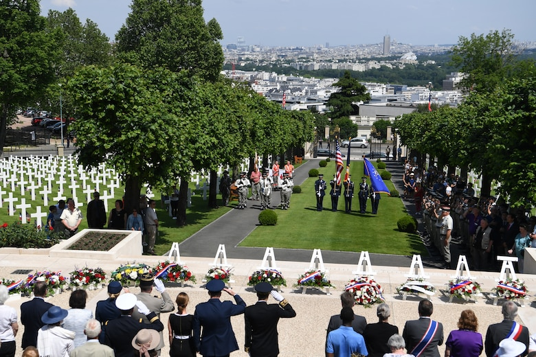 Memorial Day Ceremony at Suresnes American Cemetery near Paris, France