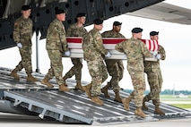 Dignified transfer for Army Staff Sgt. Conrad A. Robinson