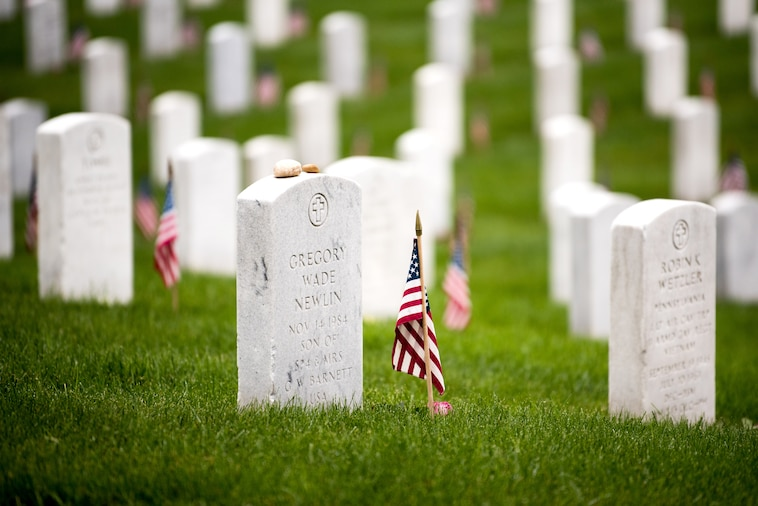 Service members and civilians honor America's fallen service members in Arlington National Cemetery for Memorial Day, May 27-28, 2018.