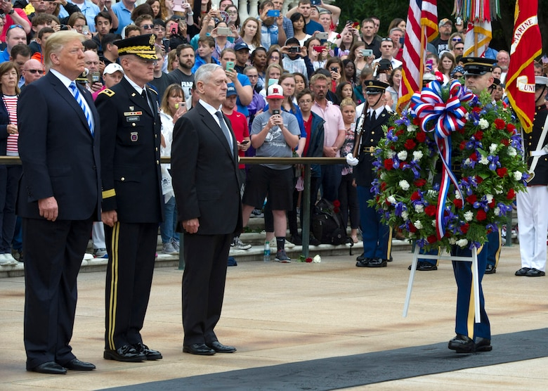 Carrying the wreath