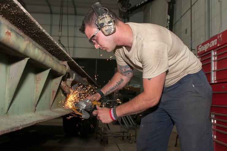As a full-time federal technician, Hance works at the Allied Trades portion of the Combined Support Maintenance Shop and restores, refits and repairs equipment used by the National Guard.