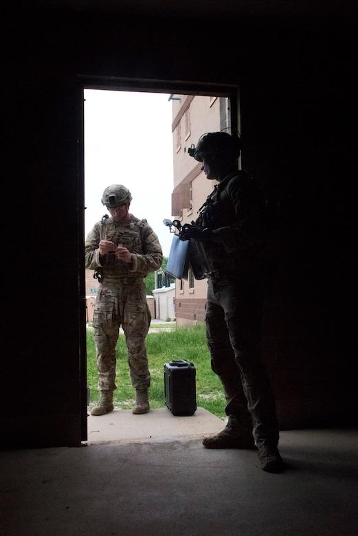 U.S. Air Force Explosive Ordnance Disposal technicians participate in the Full Spectrum EOD Warrior Challenge
