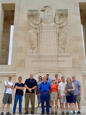 DLA Europe and Africa employees and their guests visited the Aisne-Marne Memorial near Belleau Wood, France, for the 100th Anniversary ceremony over Memorial Day weekend 2018.