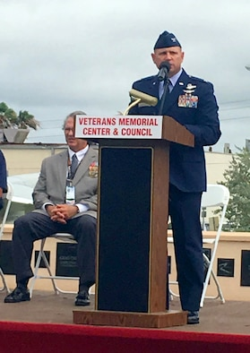 The loss of four Airmen throughout 2017-2018 within the 920th Rescue family brought Memorial Day 2018 into perspective for 2,000 Reserve Citizen Airmen that serve with the wing, along with their commander, Col. Kurt A. Matthews, who has seen the scars left by Vietnam in his own family. Matthews was invited to share his thoughts about the special meaning that Memorial Day holds to him and his family on May 28, 2018 at the Brevard Veteran's Center in Merritt Island, Florida. He also paid tribute to the fallen Airmen from his wing, as well as their commander, Lt. Col. Tim Hanks and asked everyone in attendance to keep those serving far away in their thoughts. (U.S. Air Force photo by Mr. Darrell Hankins)