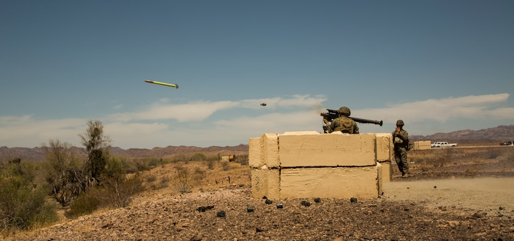 U.S. Marines with 3rd Low Altitude Air Defense (LAAD) Battalion fire FM-92 stinger missiles as part of a live fire exercise at Yuma Proving Grounds, Ariz., May 19, 2018. The purpose of the exercise was to test the stinger missiles and to qualify Marines as part of their annual training. (U.S. Marine Corps photo by Lance Cpl. Hanna L. Powell)