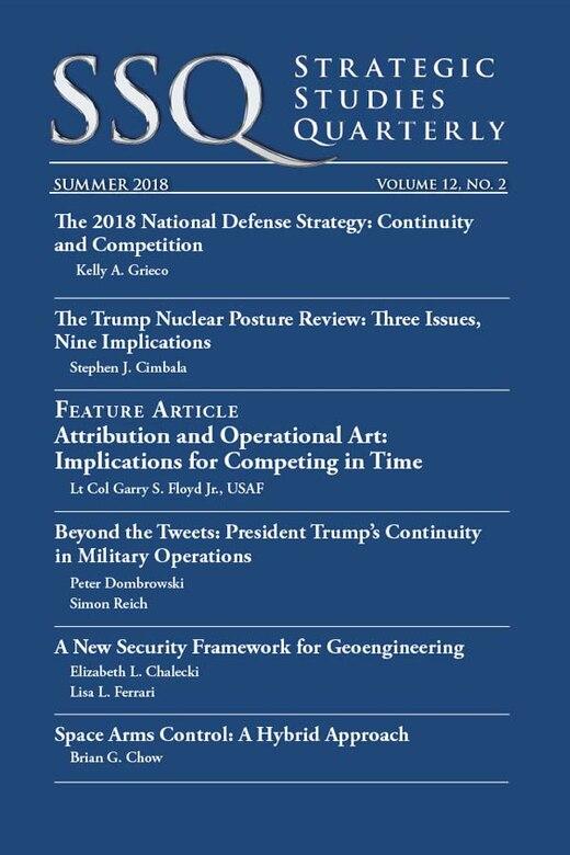 Air University releases summer's 'Strategic Studies Quarterly'