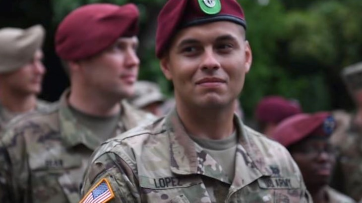Soldiers assigned to the 82nd Airborne gathered in Normandy, France, May 30, 2018, for a dinner with residents of the area to mark the 74th anniversary of D-Day.