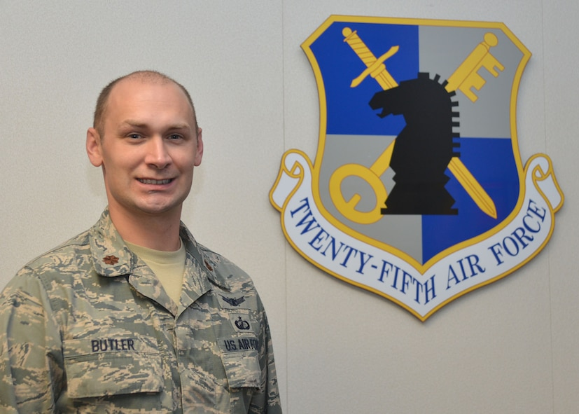 U.S. Air Force Maj. Michael Butler has many accomplishments, including five Air Force-level awards, and on Monday he will add recipient of the prestigious, national Arthur S. Flemming Award to the list.