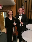 Lt. Col. Brooke Matson, 375th Air Mobility Wing chief of safety, and Staff Sgt. Richard Ransom, 375th Civil Engineer Squadron managment technician, both play for the Belleville Philharmonic Orchestra, which is the second oldest, continuously performing orchestra in the United States. Matson plays the violin and Ransom plays the timpani.
