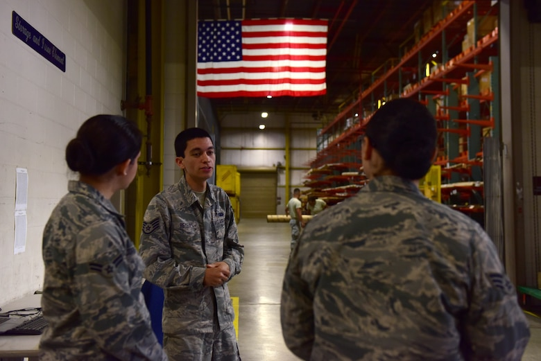 Seven materiel management Airmen from Scott Air Force Base, Illinois, visited the 509th Logistics Readiness Squadron at Whiteman AFB this month as part of a two-day Airman exchange program.