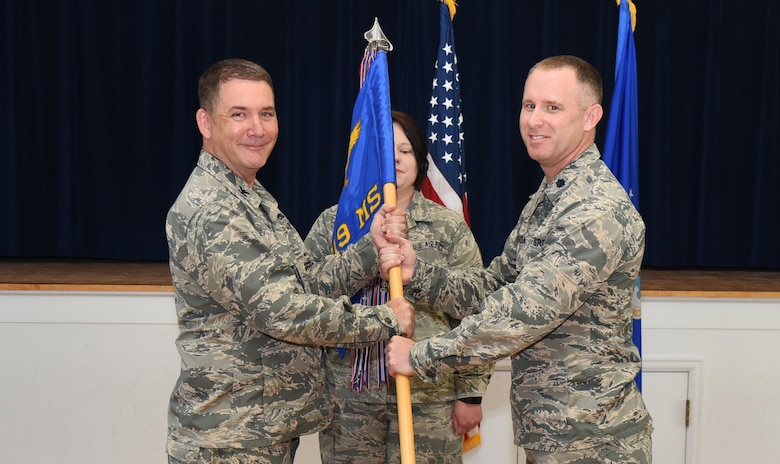 Lt. Col. James Schlabach took command of the 319th Missile Squadron during a change of command ceremony here, May 31, 2018.